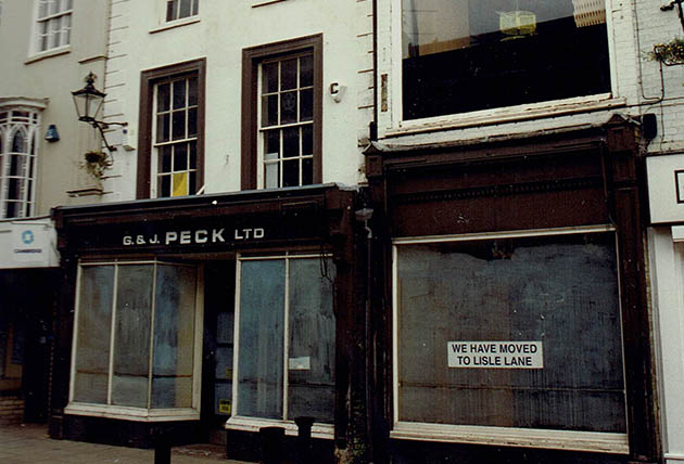 Front of the Market Place store when Pecks moved to Lisle Lane